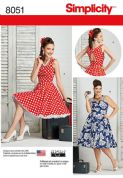 8051 Simplicity Pattern: Misses' and Women's Dresses